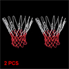 2 Pcs 12 Loops Nylon Braided String Knotted Basketball Netty Mesh Red White