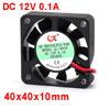 DC 12V 0.1A 2 Pin PC Case CPU Cooler Cooling Fan 40mm x 40mm x 10mm