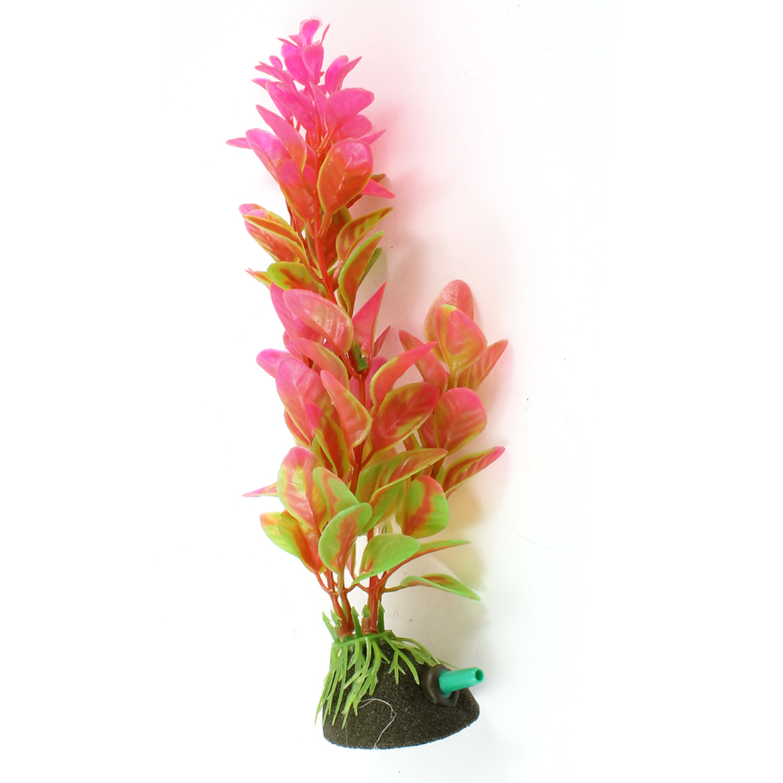 "7"" Height Manmade Aquatic Plant Air Stone Base Fuchsia for Fish Tank"