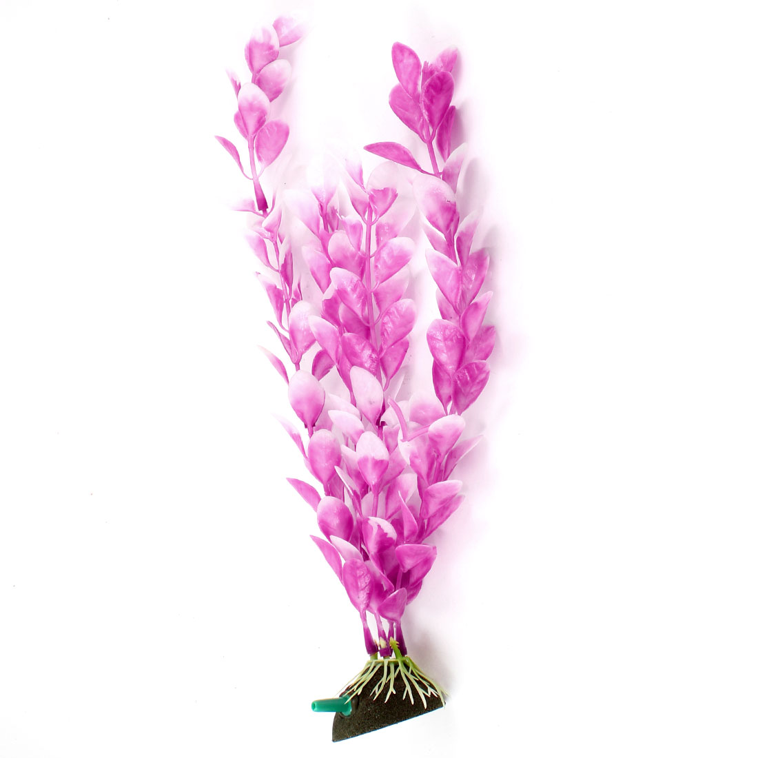 "11"" Height Manmade Plastic Aquatic Plant Air Stone Base Pink for Fish Tank"