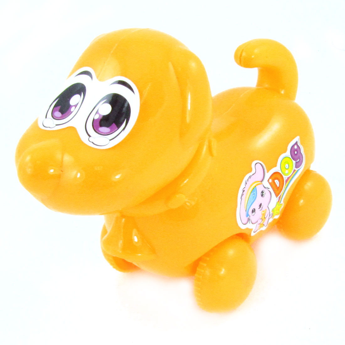 Children Kid Yellow 4 Wheel Digging Rope Moving Dog Model Toy