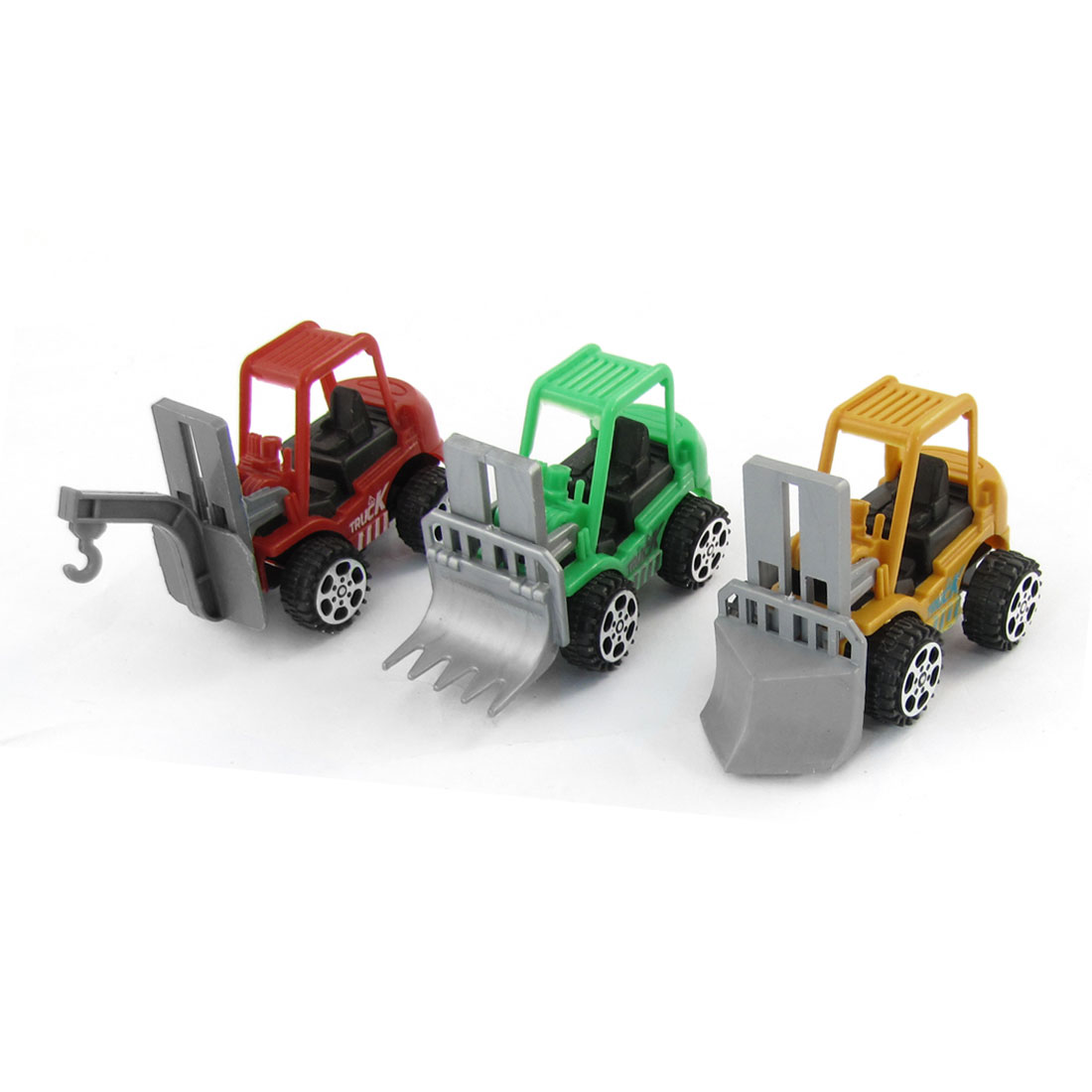 Children Red Green Yellow Body Plastic Engineering Truck Cars Toy 3 in 1 Set
