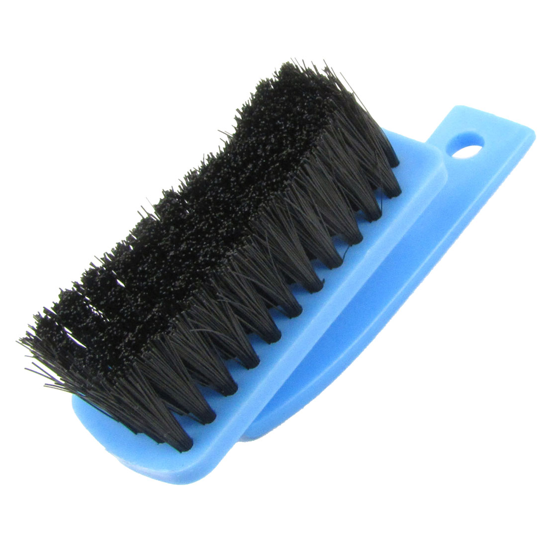 Rectangular Base Blue Black Plastic Clothes Scrubbing Brush Tool