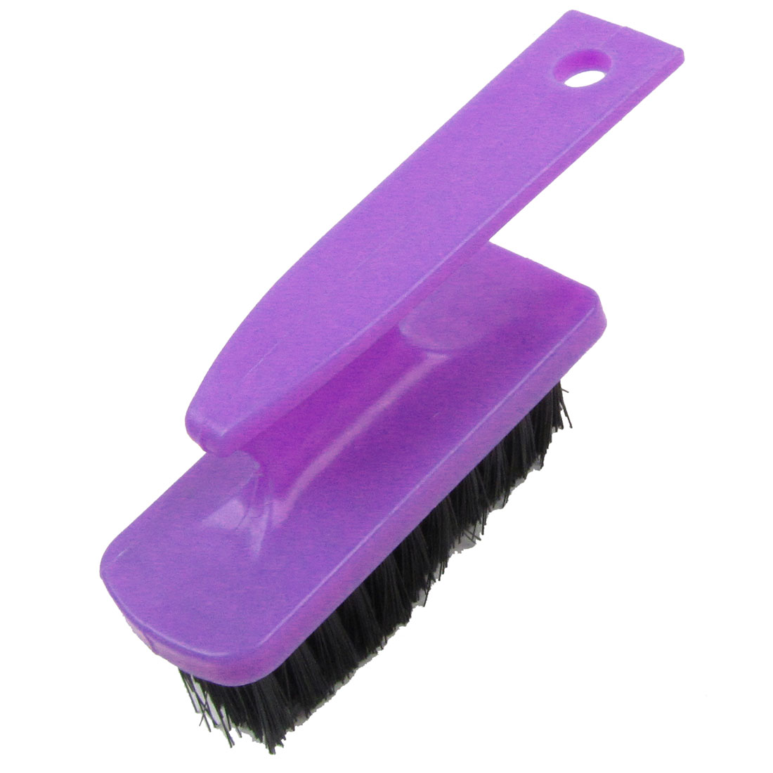 Purple Black Compact Size Plastic Cleaning Scrubbing Brush Tool