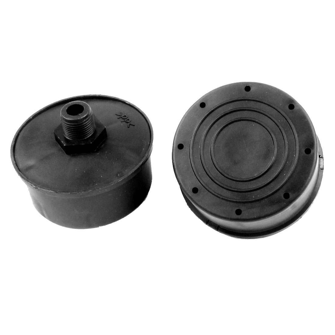 Air Compressor Black 15mm Dia Thread Muffler Silencer 2 Pcs