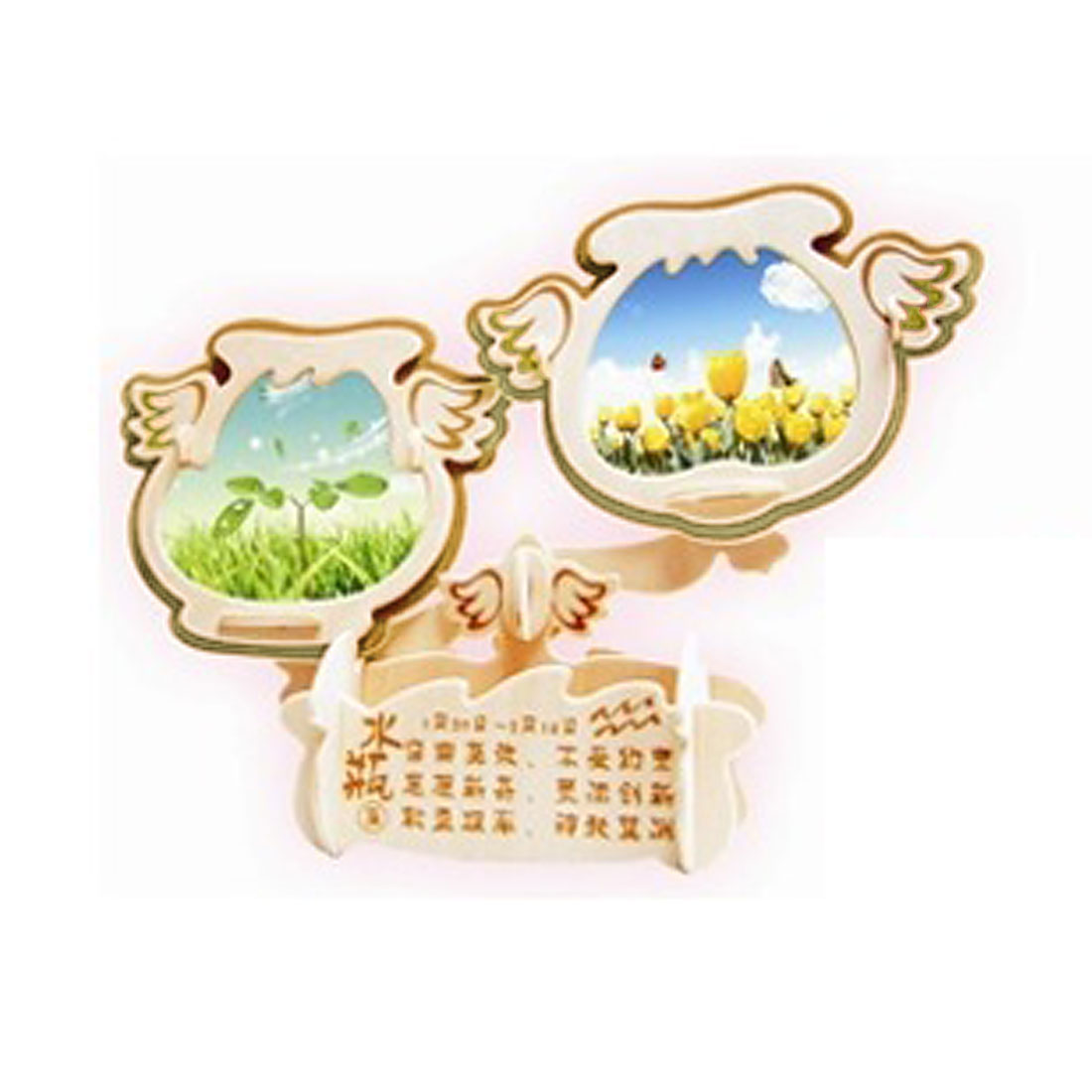 3D Aquaius Model Wooden DIY Assembly Puzzled Toy Gift Woodcraft Photo Frame