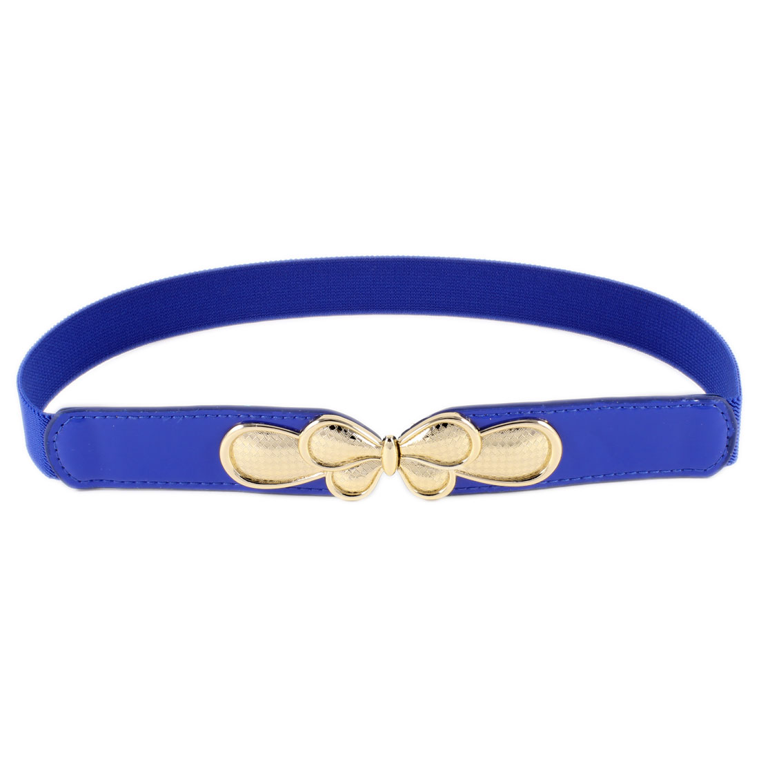 Butterfly Interlocking Closure Cinch Waist Belt 2.5CM Width Blue for Ladies