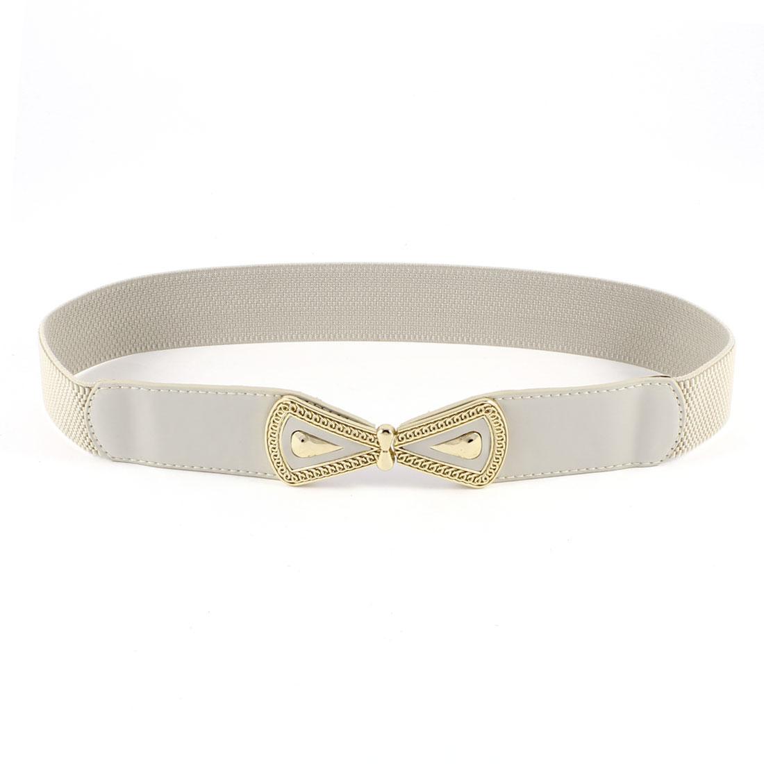 Light Khaki Stretchy Thin Skinny Waistband Cinch Waist Belt 4CM Wide for Women