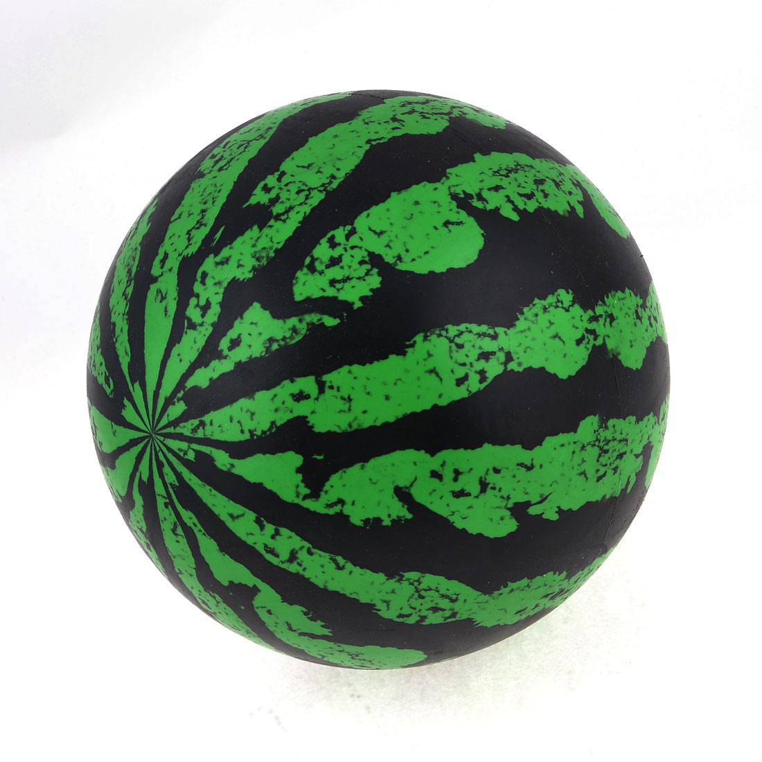 Black Green Watermelon Pattern 17cm Diameter Soft Plastic Ball Toy for Child