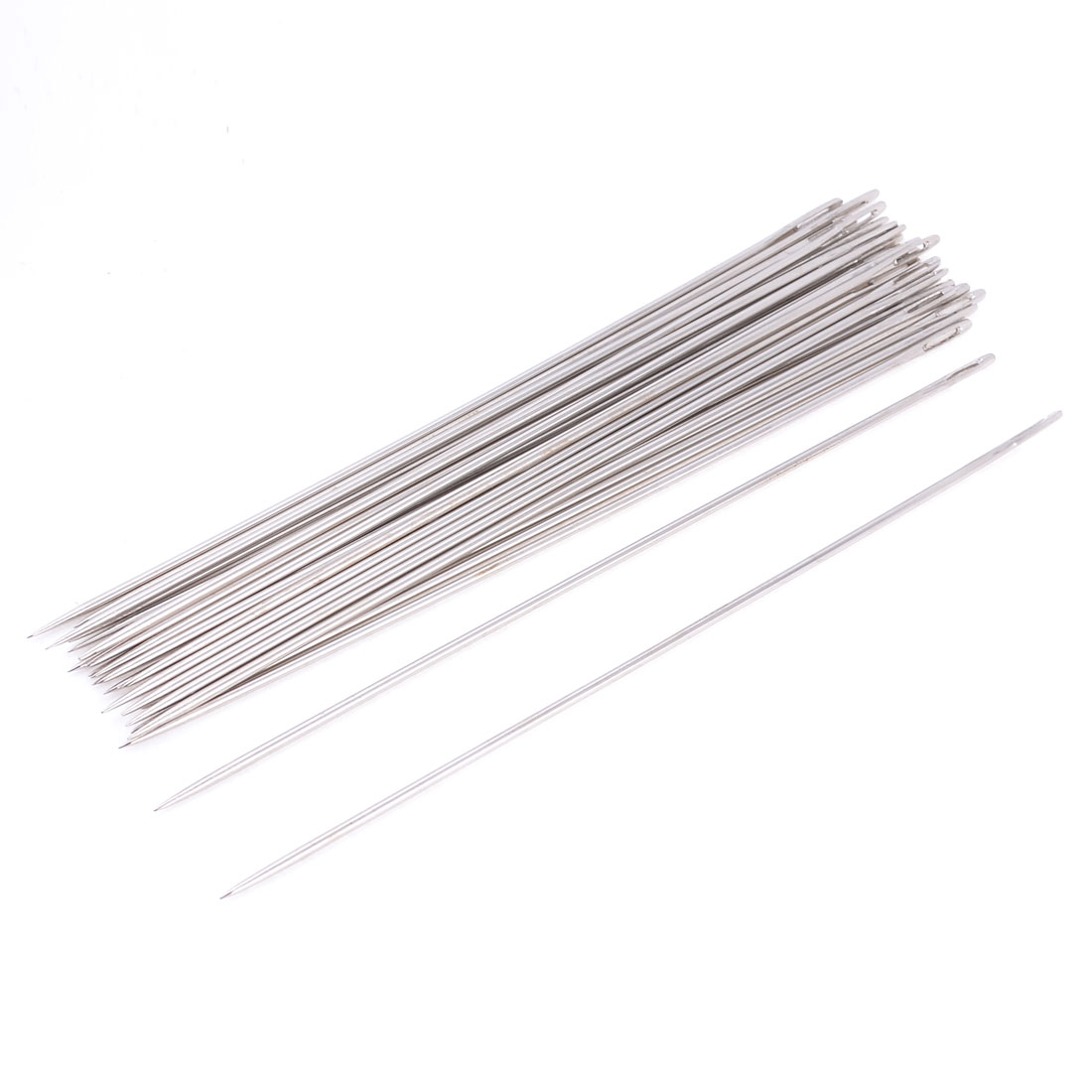 25 Pcs 1.8mm Dia Sharp Tip Metal Quilting Tailor Sewing Needles 15cm Long