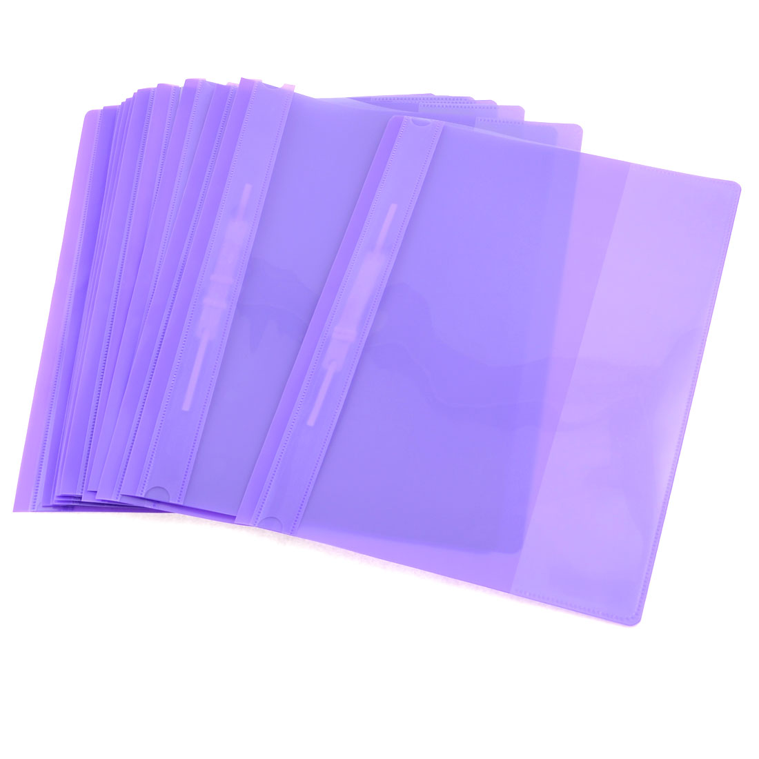 12 Pcs Size A4 Paper File Document Case Conference Folder Purple Clear