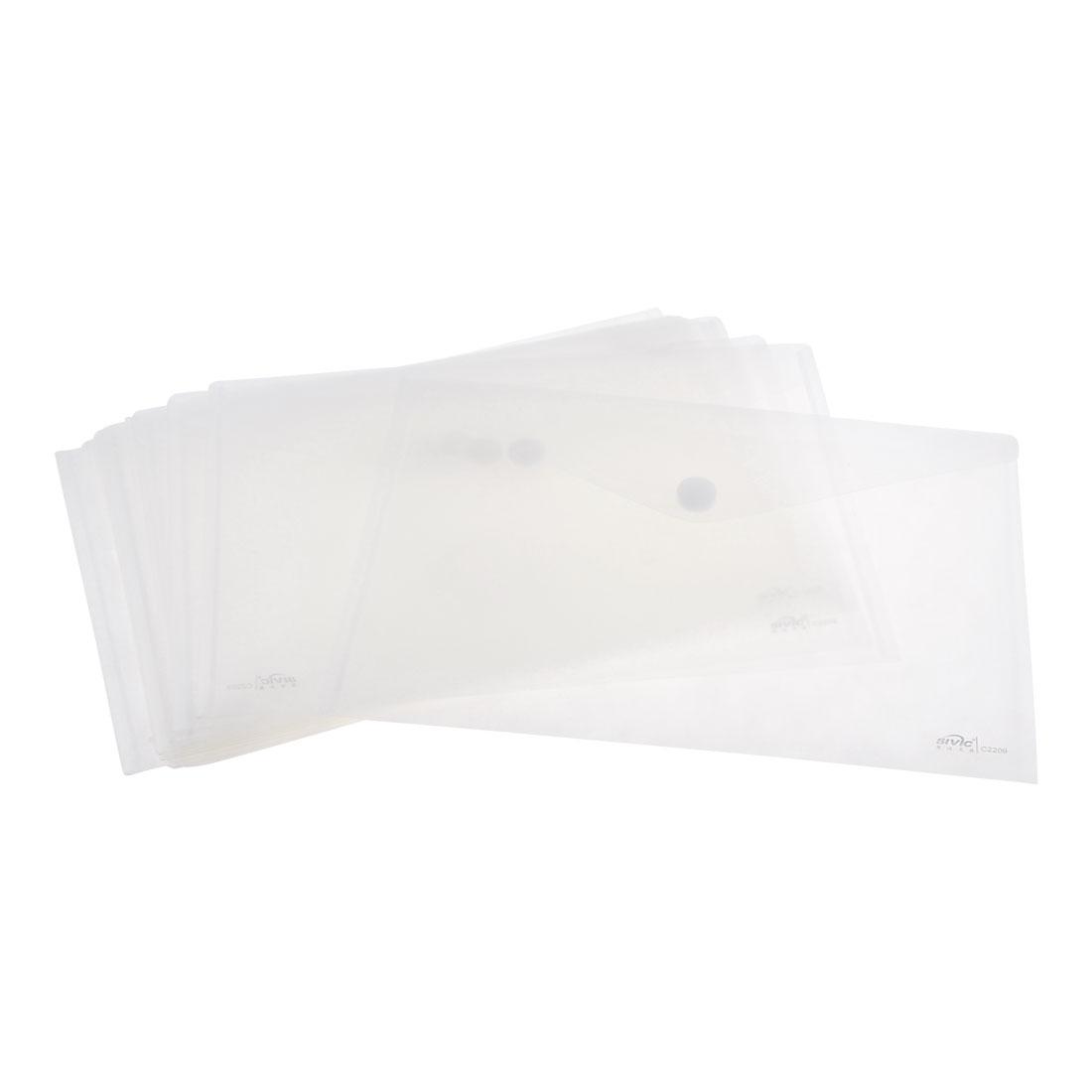 12 Pcs Clear Plastic A4 Side Hook Loop Fastener Paper File Document Holder