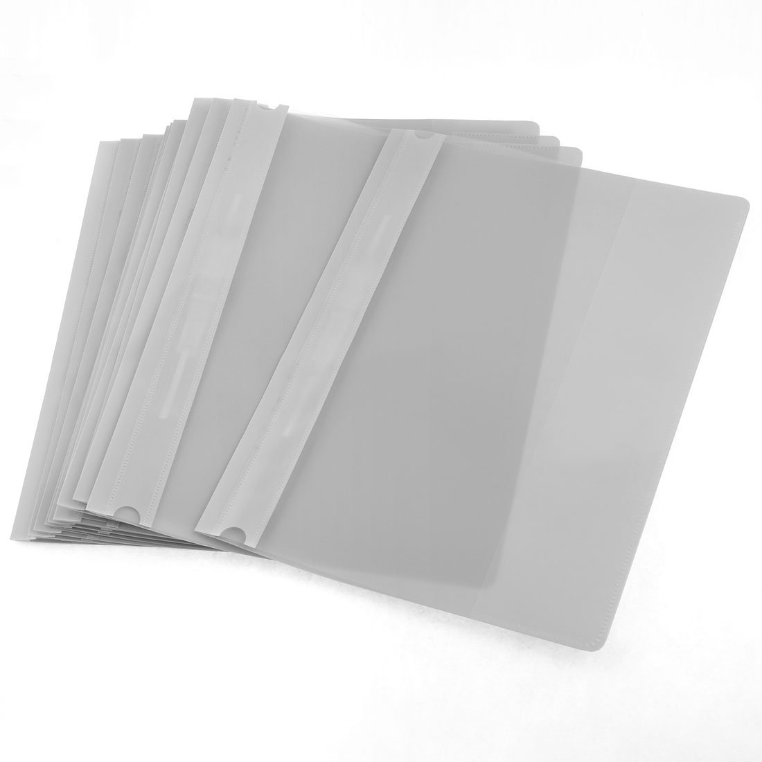 12 Pcs Size A4 Paper File Document Case Conference Folder Grey Clear