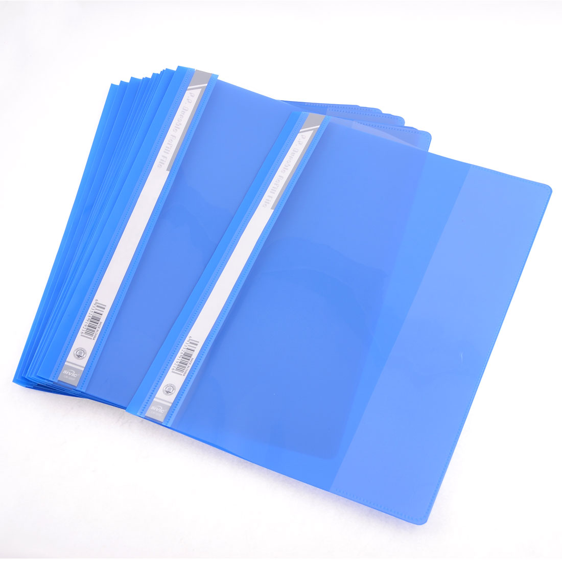 12 Pcs Size A4 Paper File Document Case Conference Folder Blue Clear