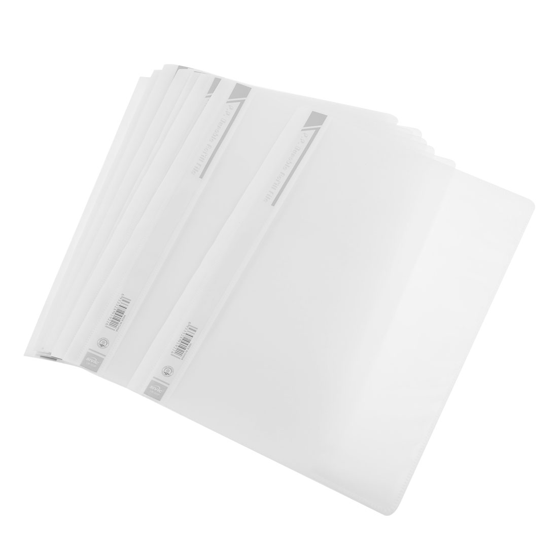 12 Pcs Size A4 Paper File Document Case Conference Folder White Clear