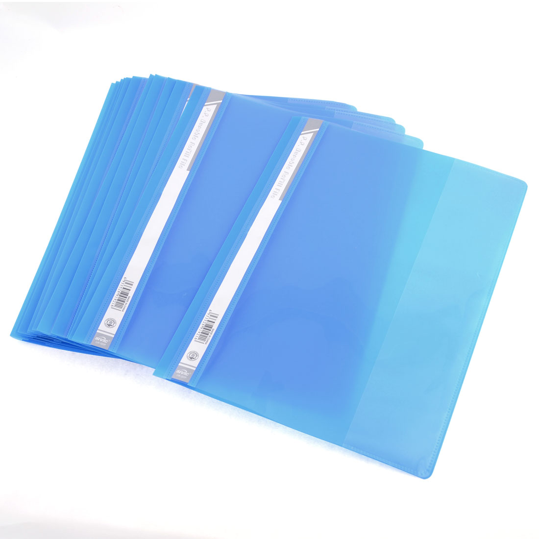 12 Pcs Size A4 Paper File Document Case Conference Folder Dodger Blue Clear
