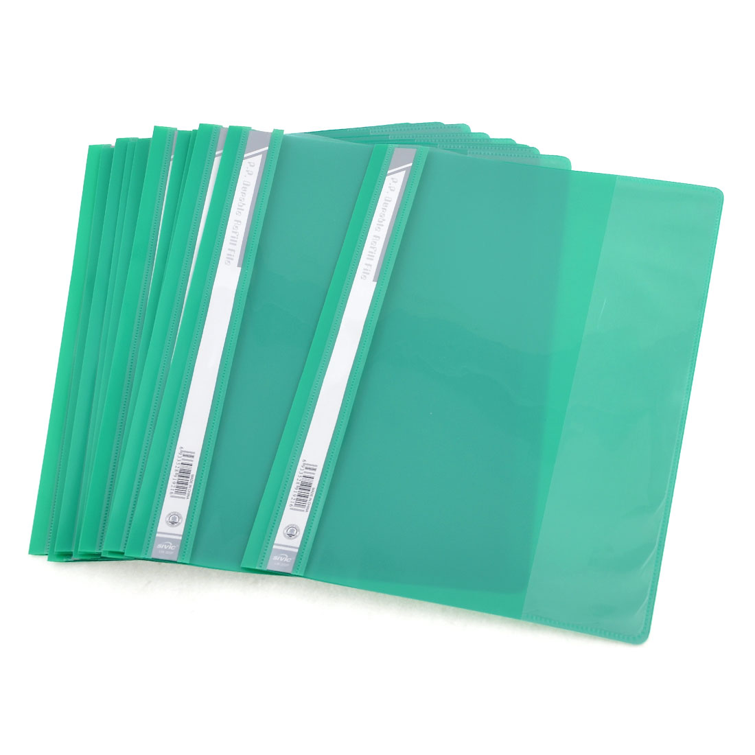 12 Pcs Size A4 Paper File Document Case Conference Folder Green Clear