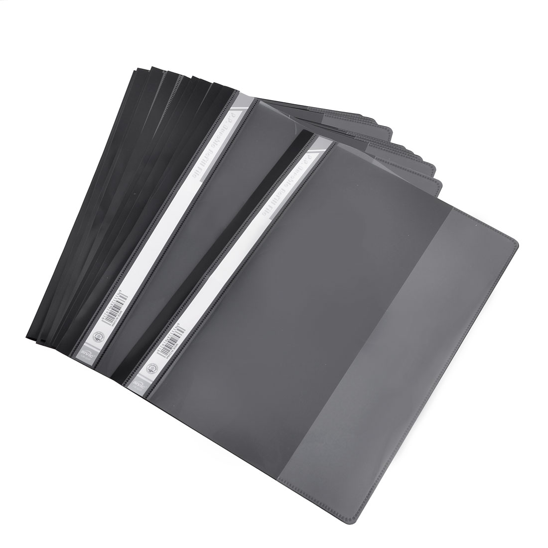 12 Pcs Size A4 Paper File Document Case Conference Folder Black Clear