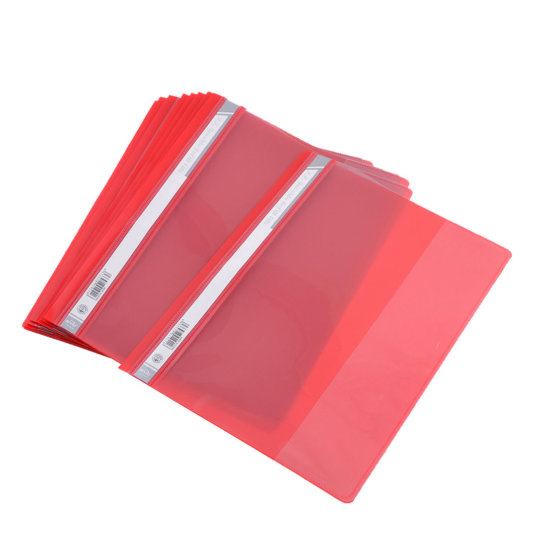 12 Pcs Size A4 Paper File Document Case Conference Folder Red Clear