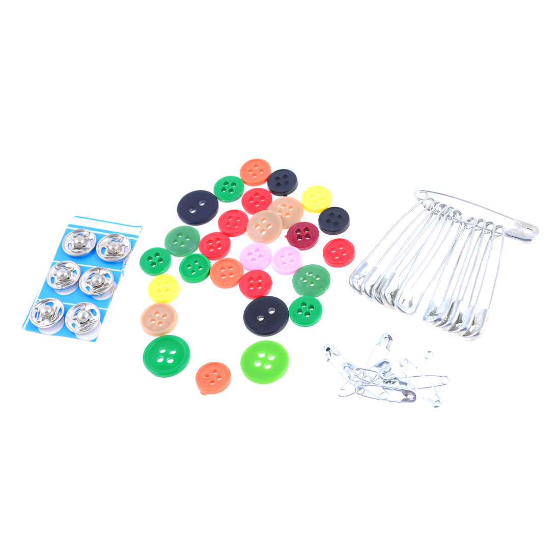 Home Silver Tone Press Stud Button Safety Pins Sewing Set Kit