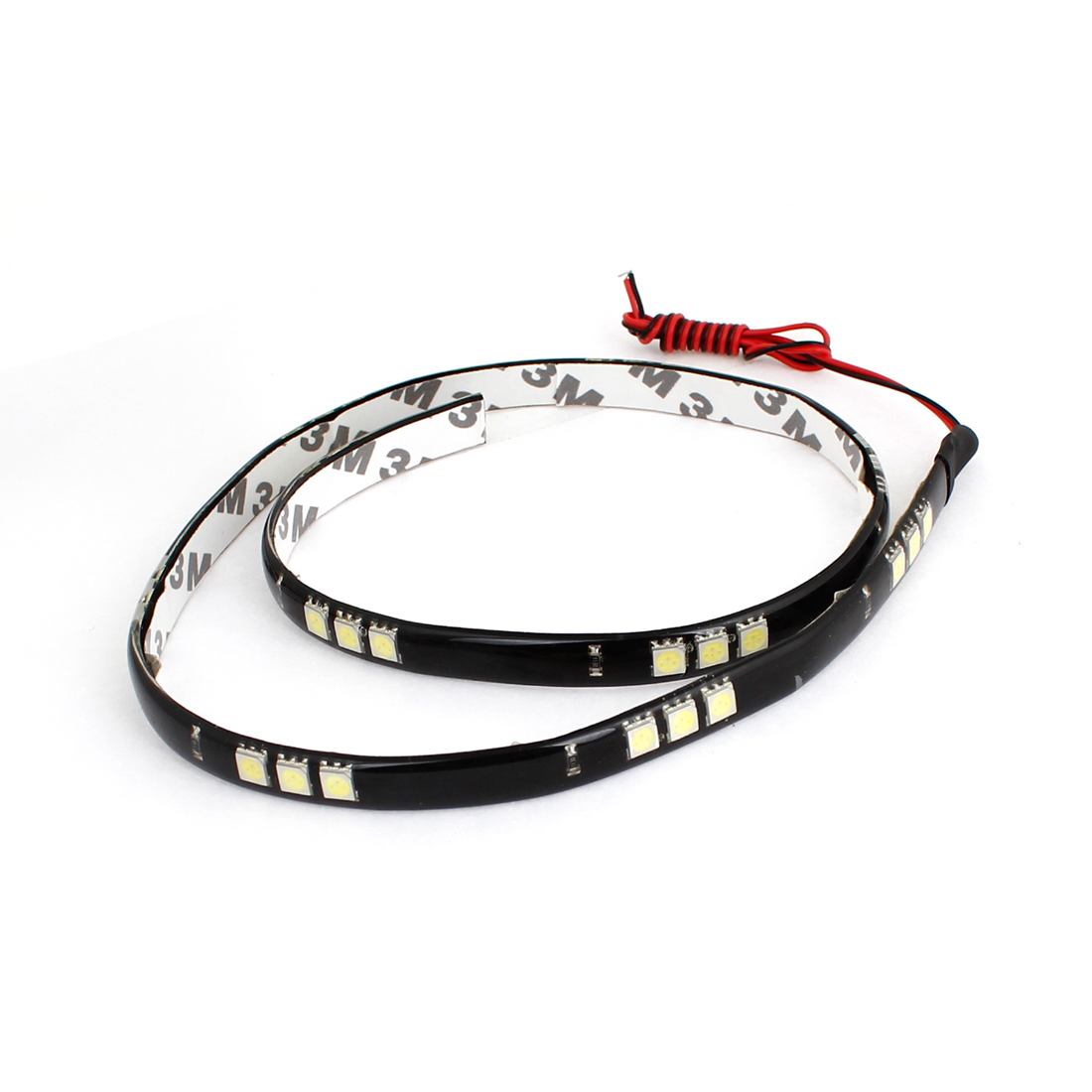 "White 30-LED 5050 SMD Flexible Lamp Light Strip Sticker 23.6"" Long"