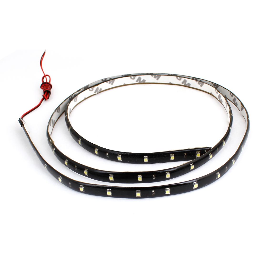 120cm long White 60 LED 1210 SMD Bulbs Decorative Light Strip Sticker for Car
