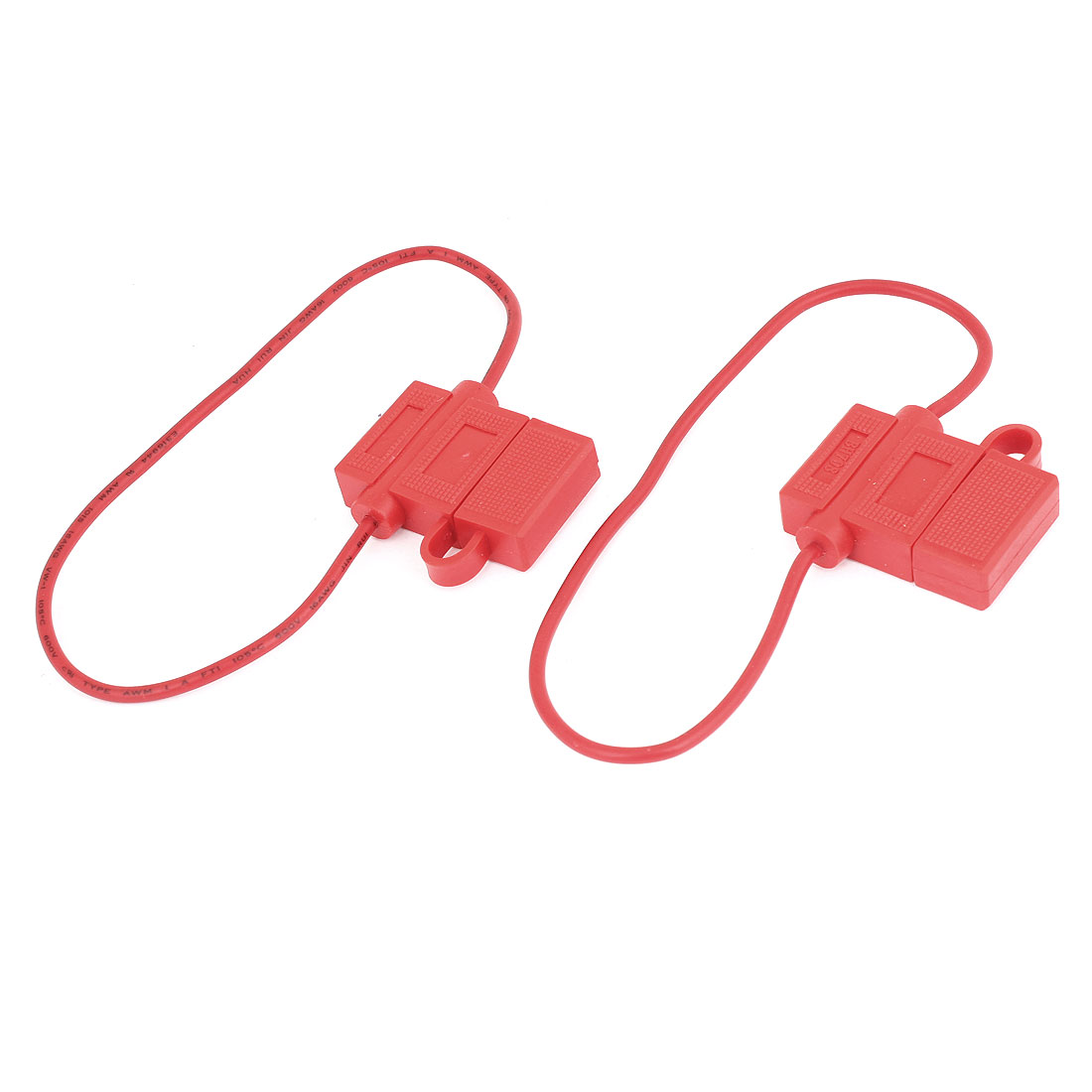 2 x Car Boat Truck 16 AWG Wire Blade Fuse Holder Red 32V 20A BH708