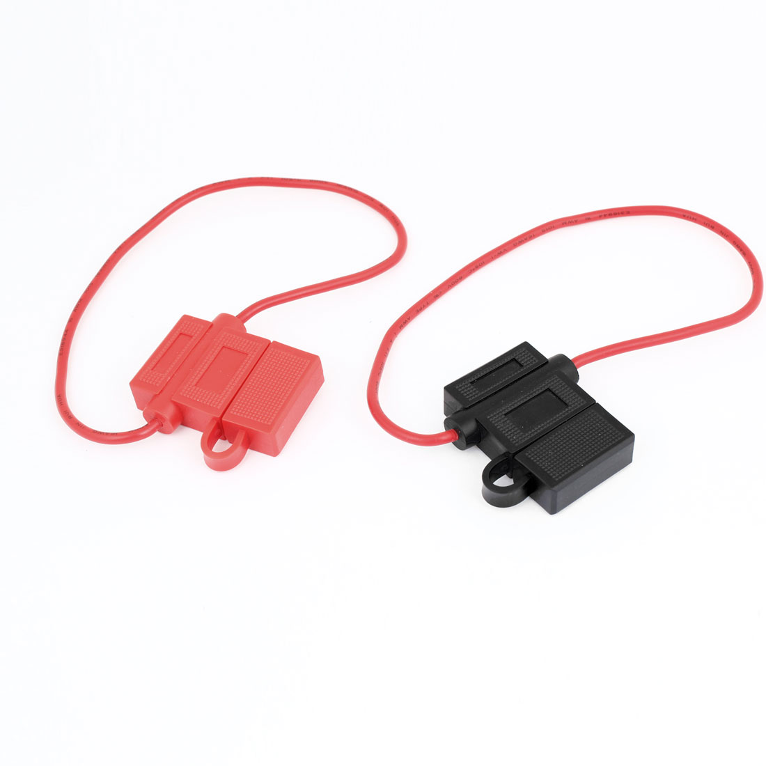 2 Pcs BH708 Black Red Plastic Blade Fuse Holder Container for Auto Car