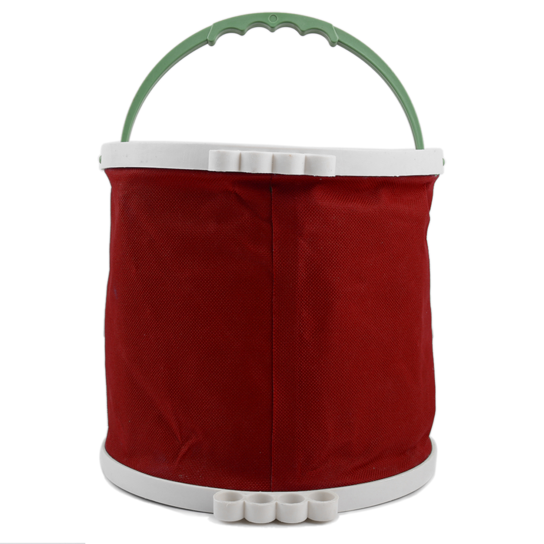 Red Art Painting Brush Washing Foldaway Bucket Barrel Trash Bin Storage