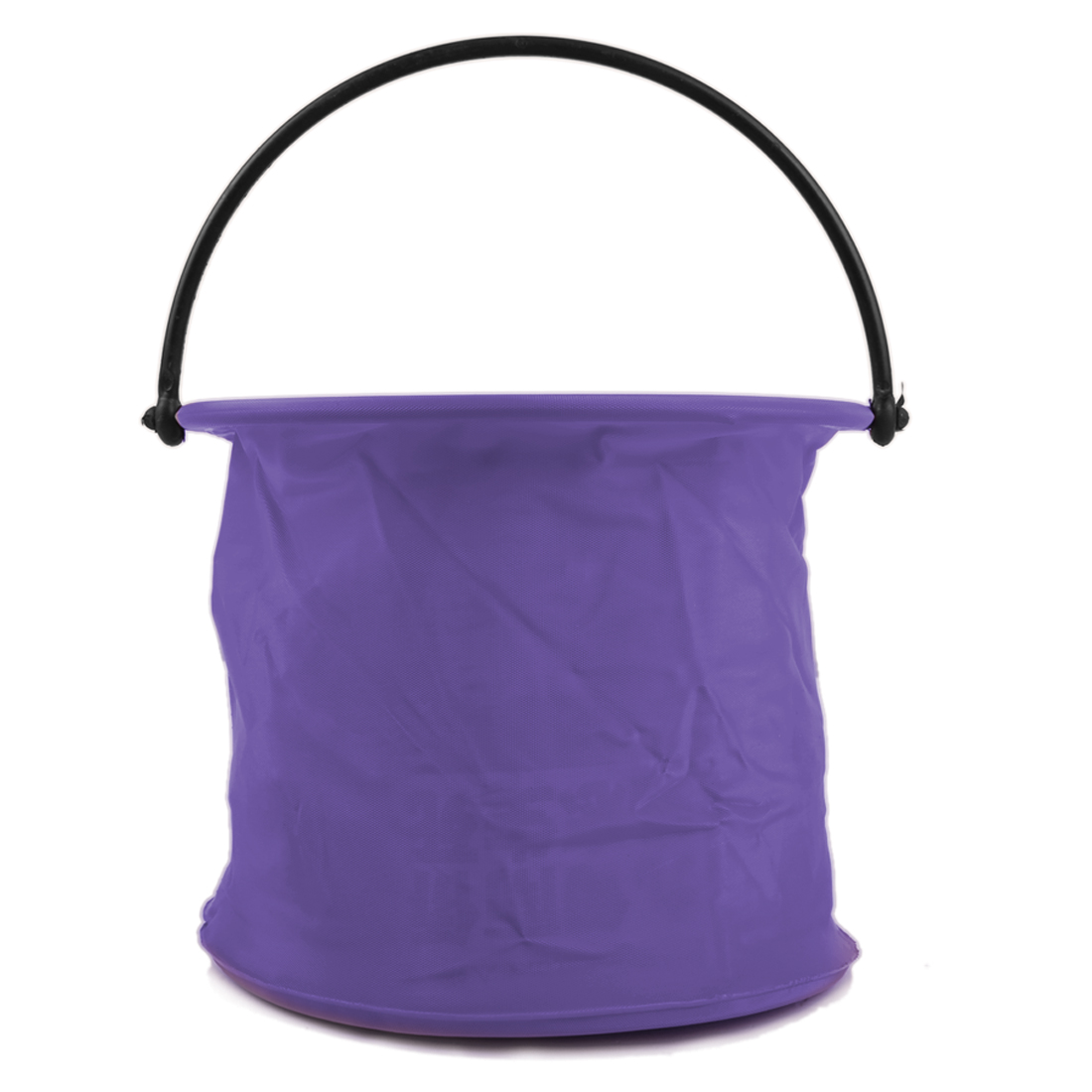 Purple Cylinder Shaped Two Cells Fishing Foldable Bucket Pail