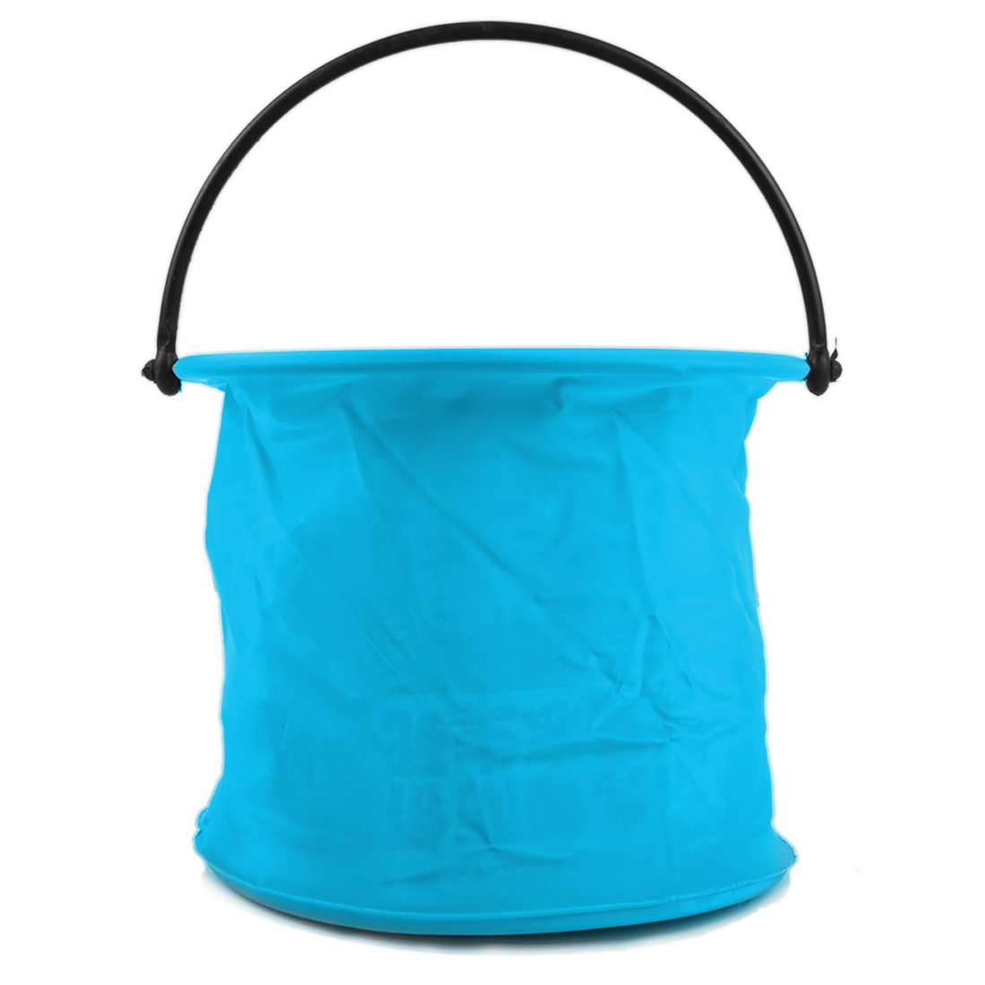 Blue Cylinder Shaped Two Cells Fishing Foldable Bucket Pail