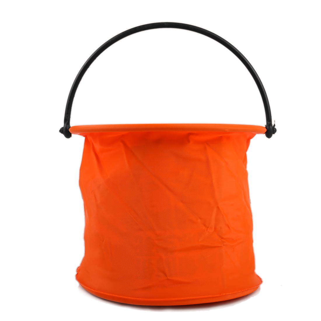 Orange Cylinder Shaped Two Cells Fishing Foldable Bucket Pail