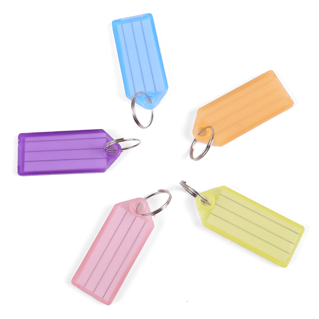 Multicolor Plastic Barber Salesman Name Tag Badge Clip Holder 20 Pcs