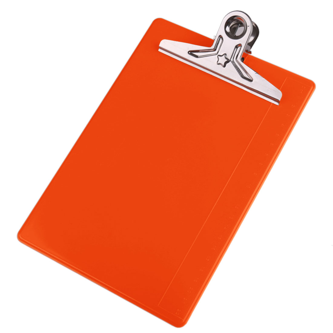 Office Home Plastic Metal Clip Board A5 File Notebook Clipboard Orange