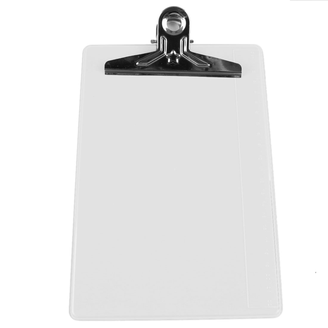 White Plastic Silver Tone Metal Clip Board File Notebook A5 Paper Clipboard