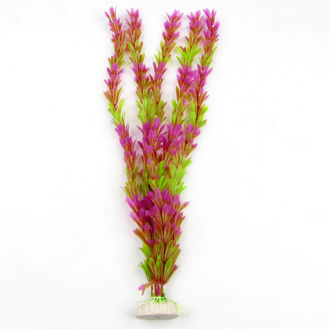 Fish Tank Artificial Fuchsia Light Green Plastic Water Plants