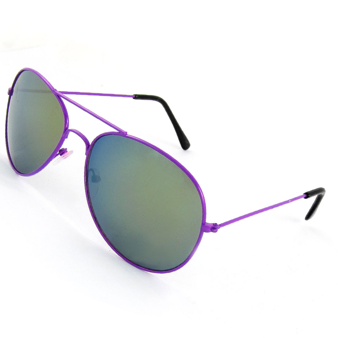Purple Nose Pad Dual Bridge Tinted Lens Portective Sunglasses for Woman