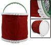 Red Art Painting Brush Washing Foldaway Bucket Trash Bin Storage