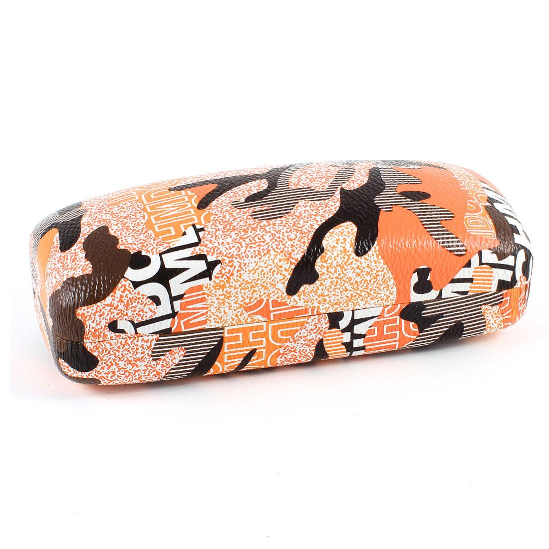 Camouflage Pattern Metal Case Box Orange Black for Eyeglasses