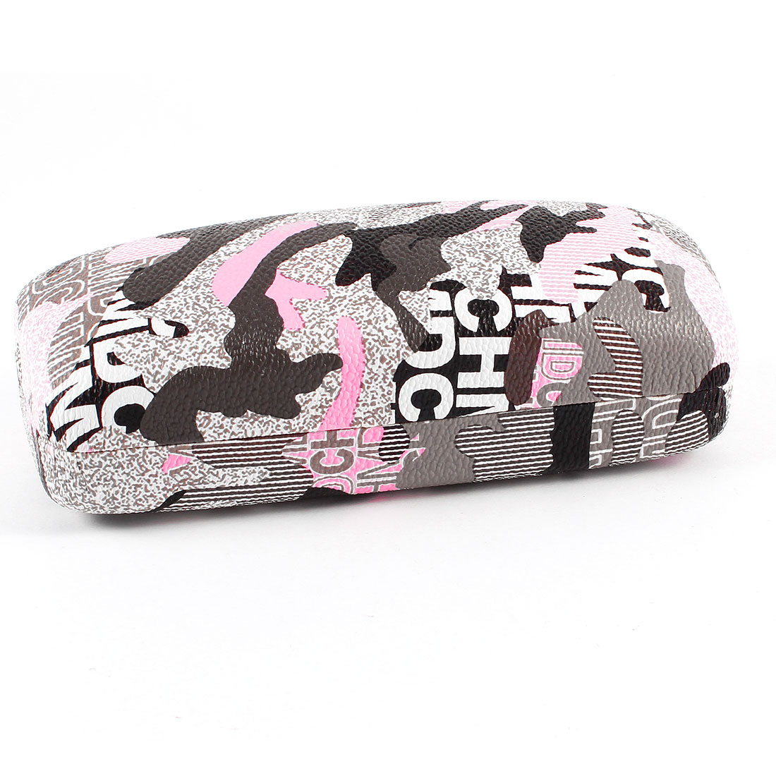 Camouflage Pattern Metal Case Box Pink Black for Eyeglasses