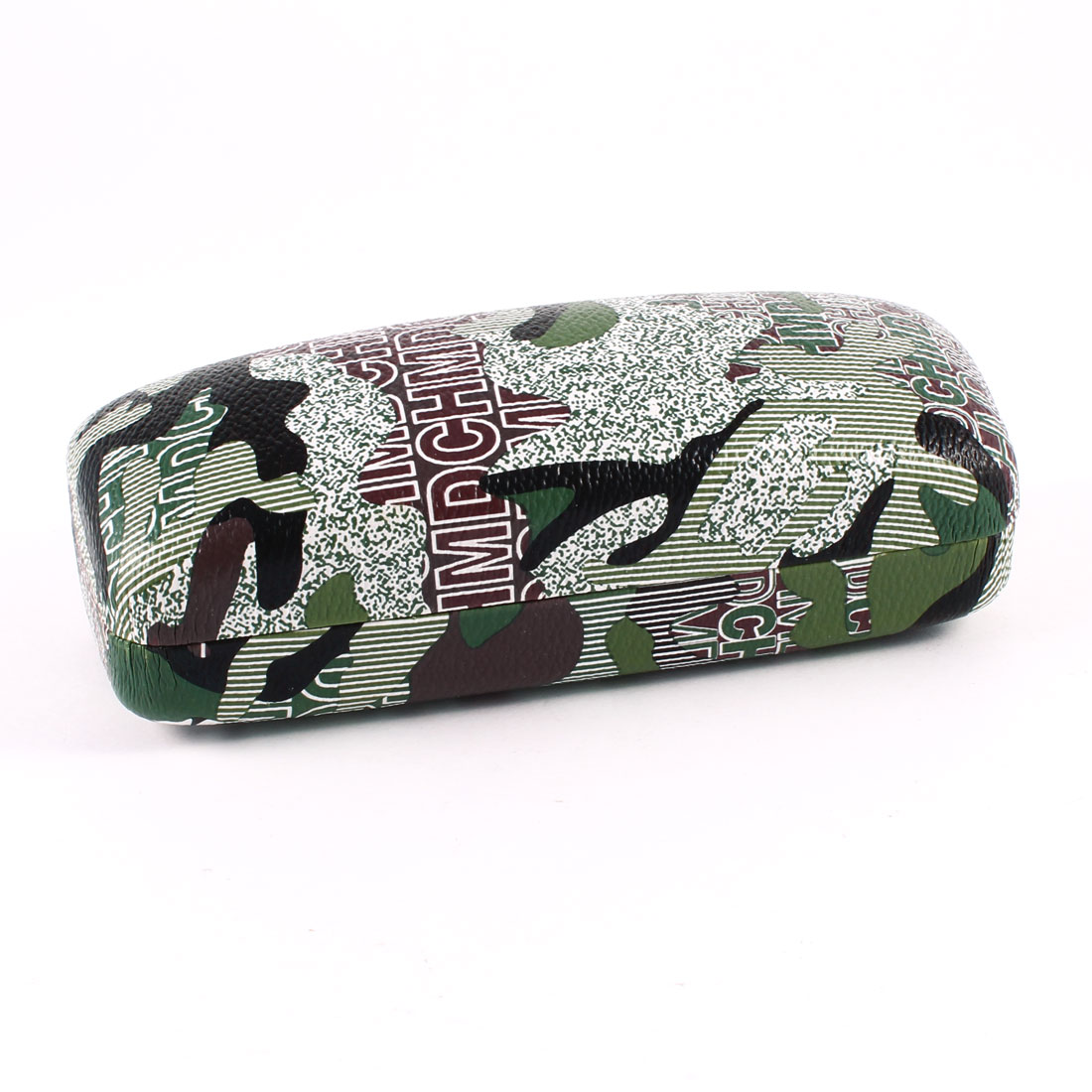 Camouflage Pattern Metal Case Box Army Green Black for Eyeglasses