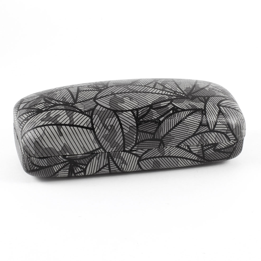 Textured Pattern Eyeglasses Spectacle Case Box Dark Gray Black