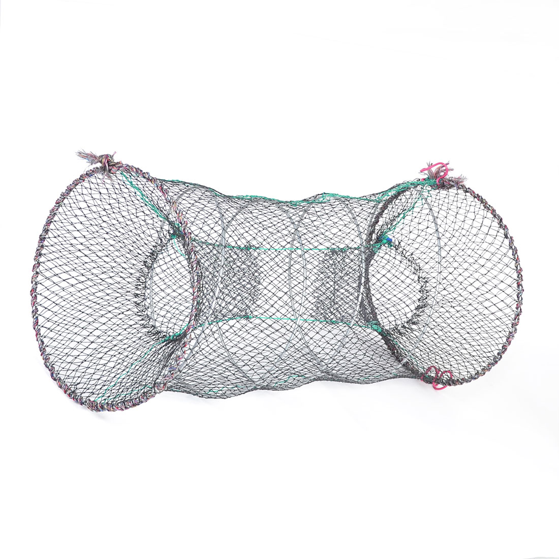 Black Dual Entrance 30x55cm Mesh Net for Frog Shrimp Crawfish Lobster