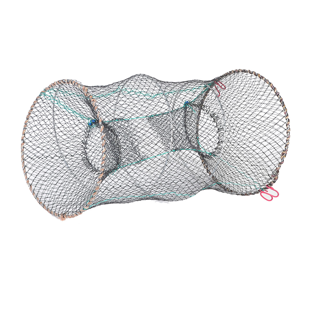 Pond Black Dual Round Entrance 53cm Mesh Net for Shrimp Crawfish Lobster