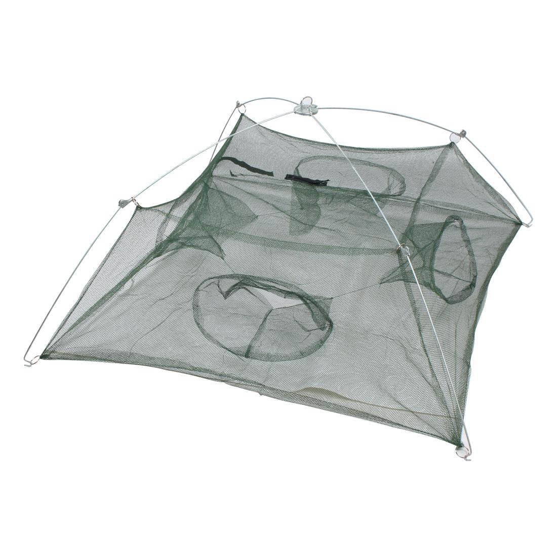 100cmx100cm Foldable Mesh Crawdad Shrimp Umbrella Cast Fishing Dip Net