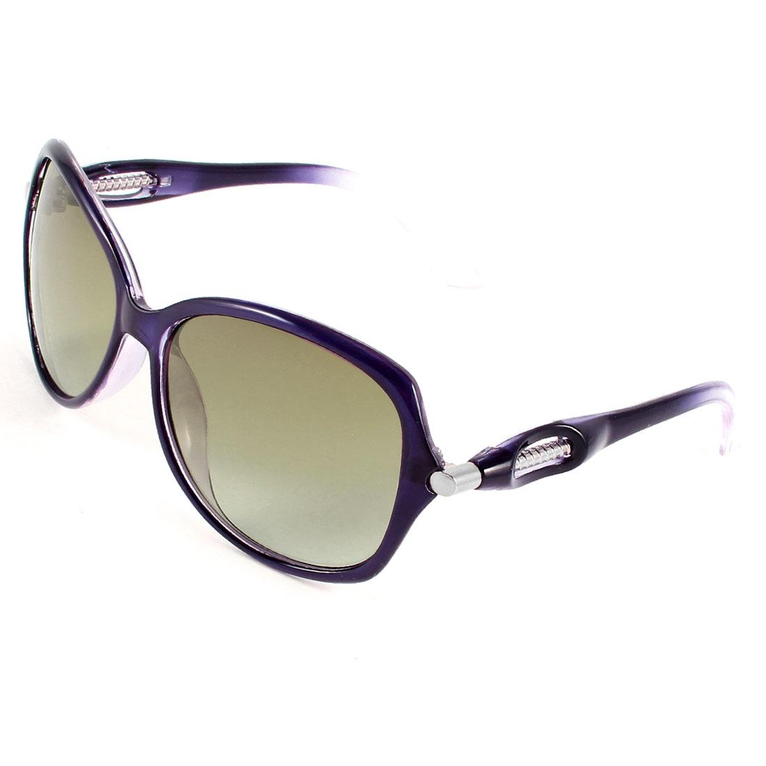 Purple Plastic Full Rim Frame Brown Lens Polarized Sunglasses for Ladies