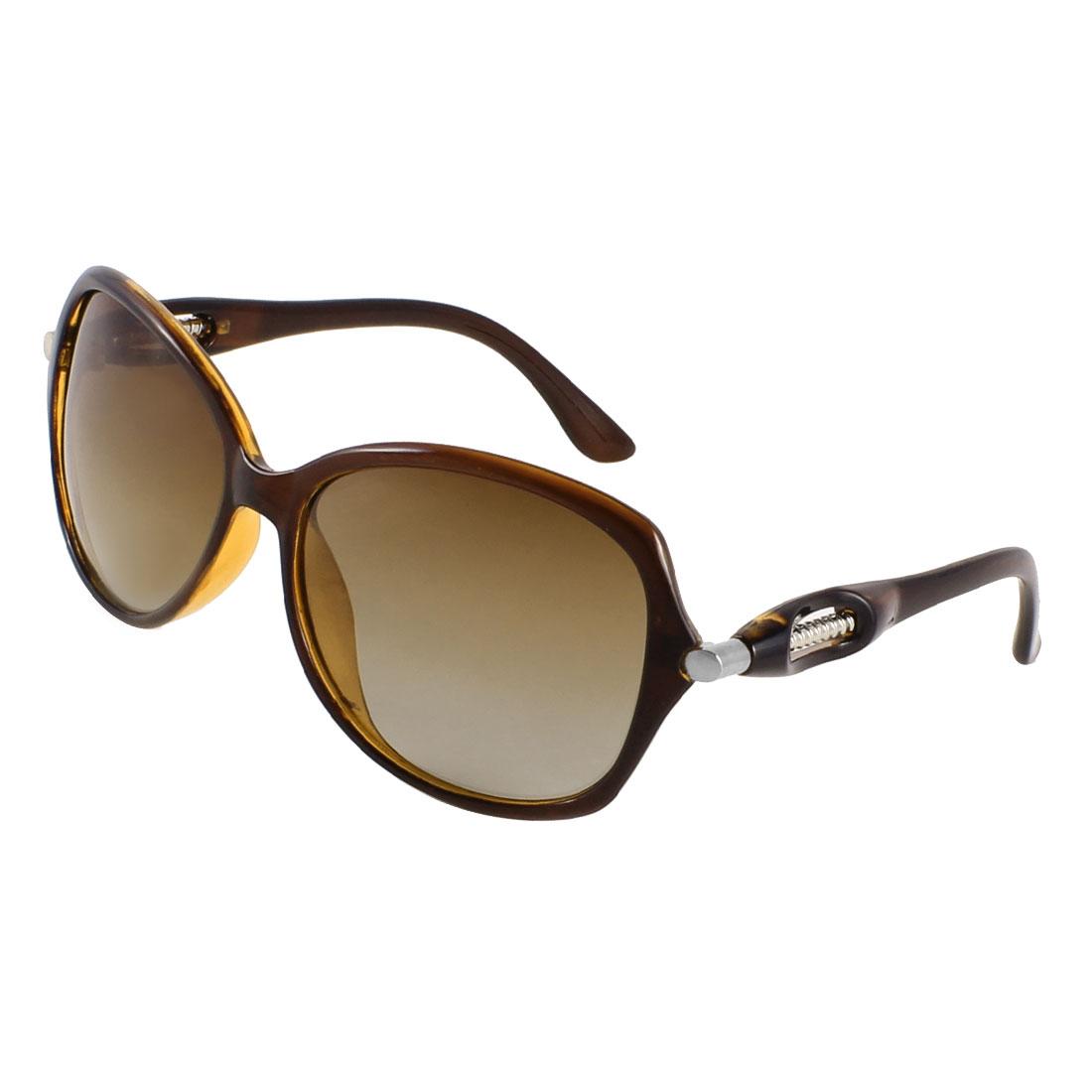 Water Drop Shape Brown Lens Single Bridge Polarized Sunglasses for Ladies