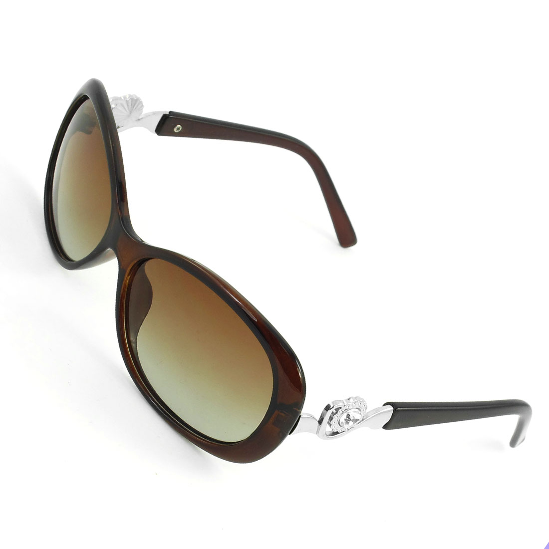 Brown Rimmed Waterdrop Shaped Gradient Lens Polarized Sunglasses for Woman