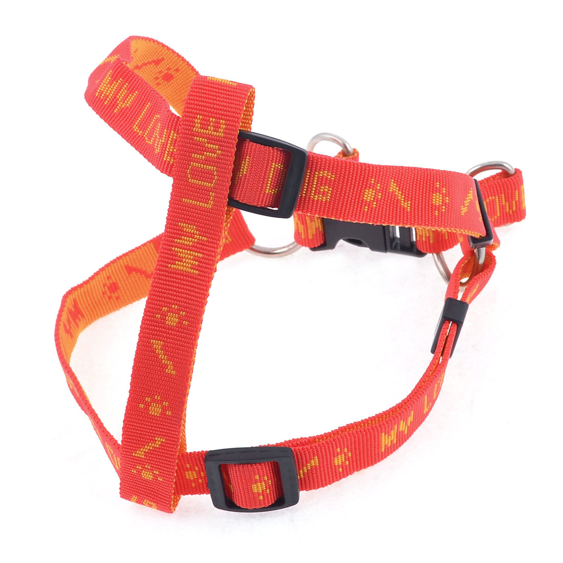 2cm Width Textured Nylon English Word Print Chest Strap Pet Dog Harness L