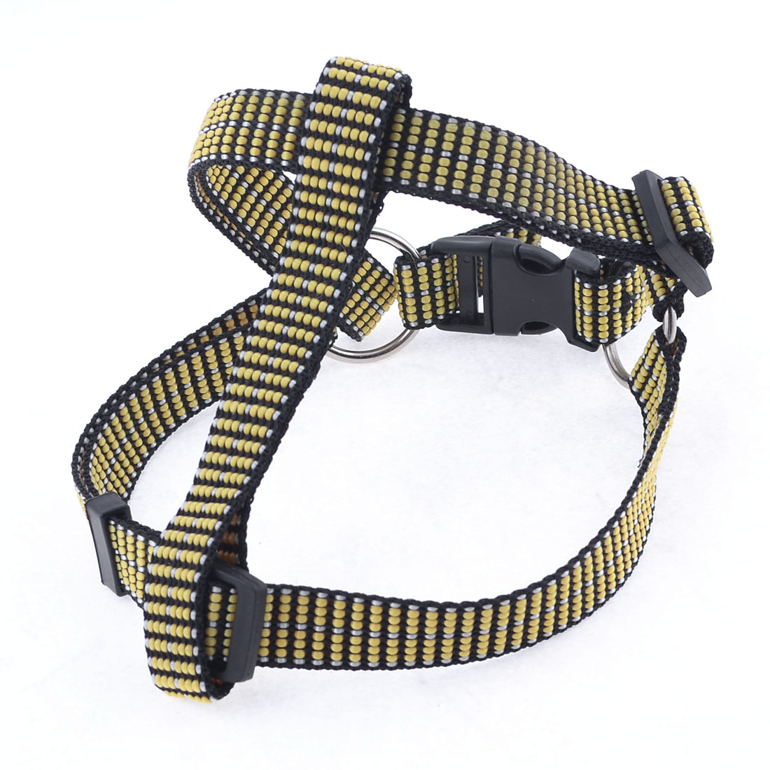 "Textured Nylon Chest Strap Adjustable Dog Harness 0.75"" Width Size L"